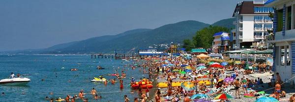 пляжи в лазаревском фото